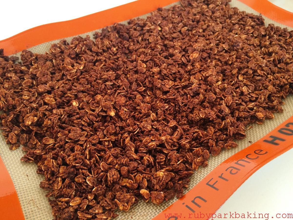 Sea Salt Chocolate Granola on rubyparkbaking.com