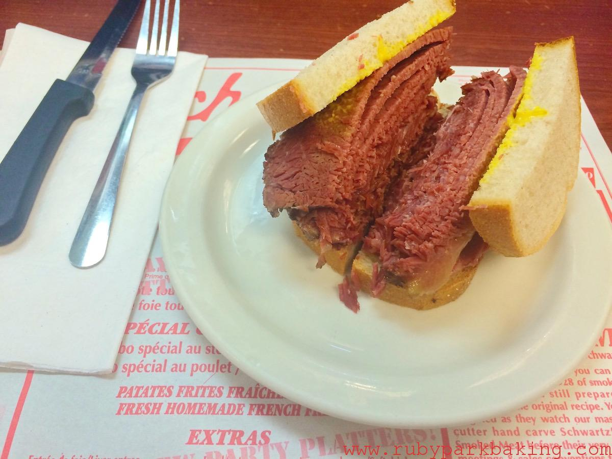 Smoke Meat Sandwiches, Schwartz's - Montreal Hebrew Delicatessen