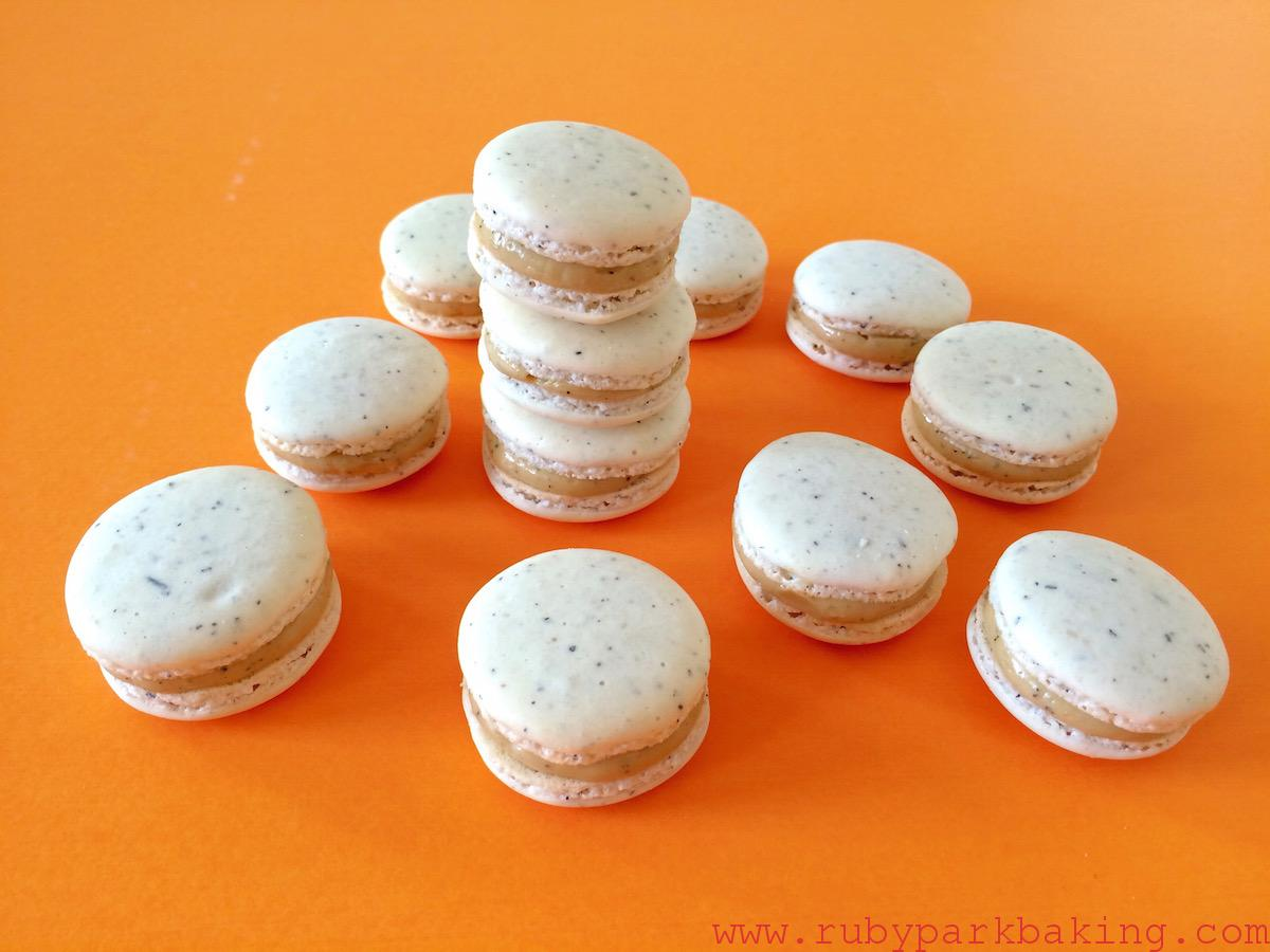 Earl grey Macarons on rubyparkbaking.com