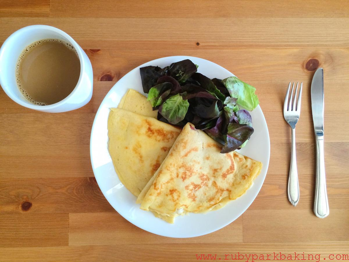 Whole wheat crepes with cheese on rubyparkbaking.com