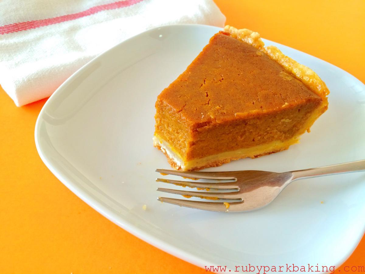 Classic pumpkin pie on rubyparkbaking.com