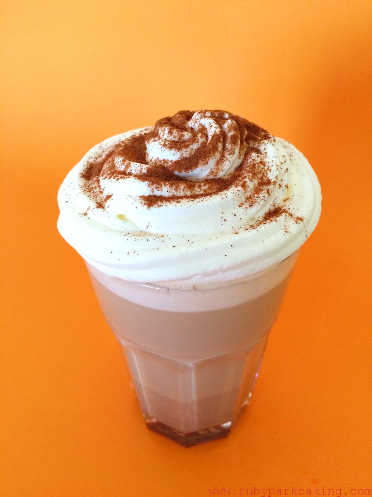 Homemade pumpkin spice latte on rubyparkbaking.com