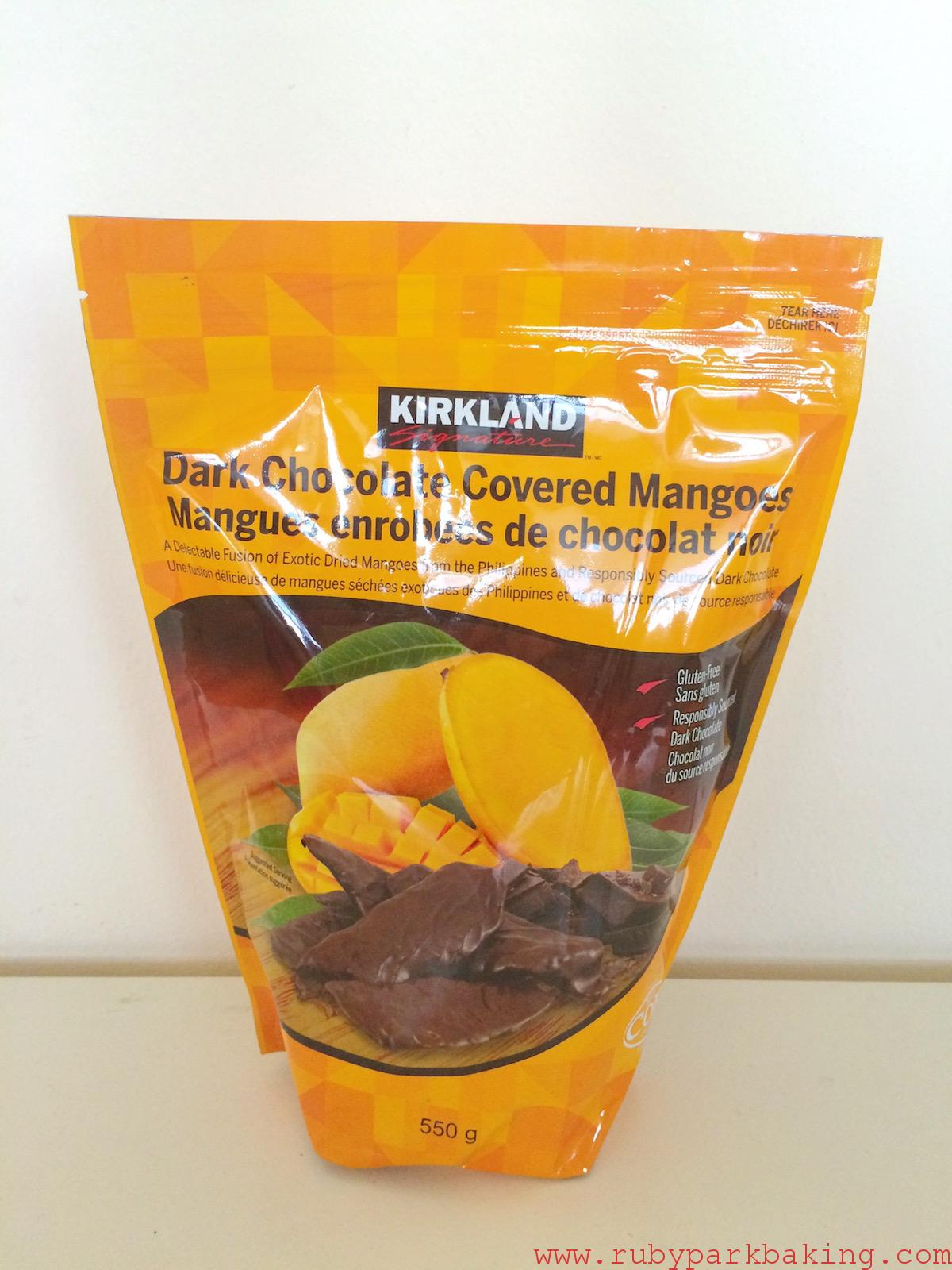 Dark chocolate covered mangoes, Costco Toronto