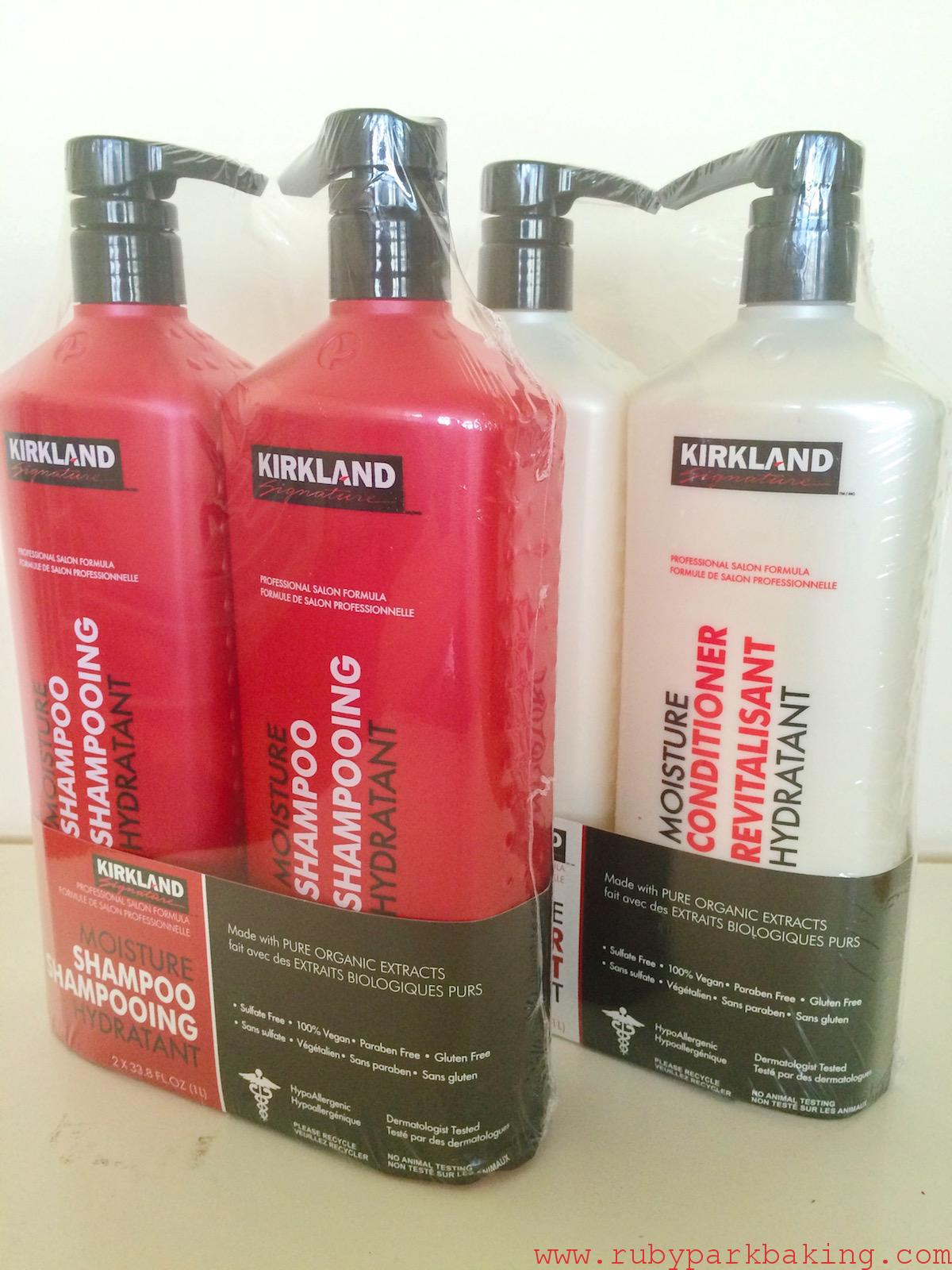 Costco, Kirkland signature shampoo and conditioner